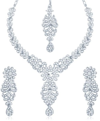 Sukkhi Zinc Jewel Set(White) at flipkart