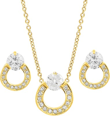 Shining Jewel Brass Jewel Set(Gold)