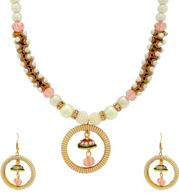 Luxor Alloy Jewel Set(White, Gold, Pink)  available at flipkart for Rs.369