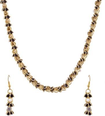 Luxor Alloy Jewel Set(Black, Gold, White)  available at flipkart for Rs.399