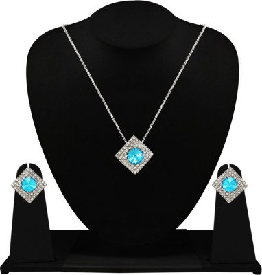 Silverstoli Alloy Jewel Set(White) at flipkart