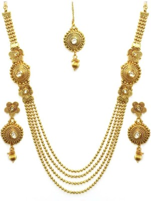 You Bella Alloy Jewel Set(Gold) at flipkart