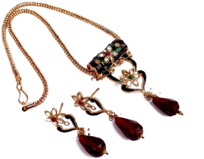 Kundaan Alloy Jewel Set(Red, Green, Gold)