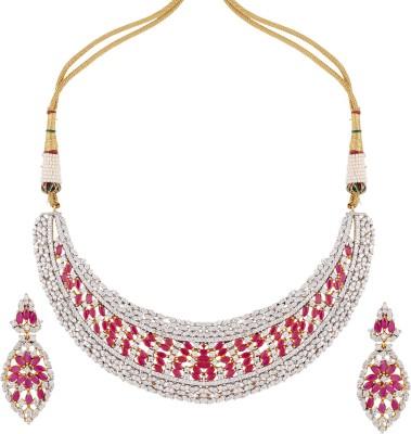 Sri Shringarr Fashion Brass Jewel Set(Multicolor) at flipkart