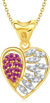 VK Jewels Heartfelt Love Heart Shape Rhodium Cubic Zirconia Alloy Pendant