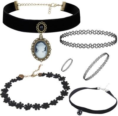 Jewels Galaxy Lac Jewel Set(Black) at flipkart