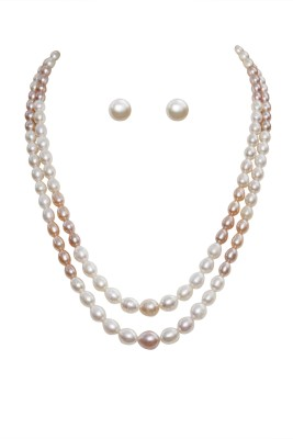 Classique Designer Jewellery Mother of Pearl Jewel Set at flipkart