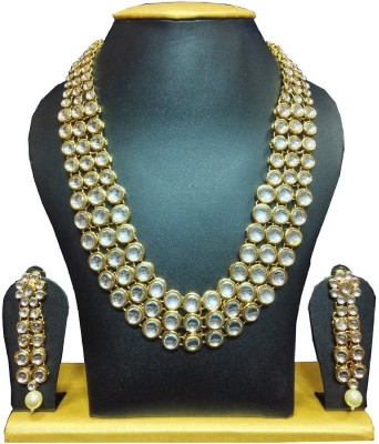Shining Diva Alloy Jewel Set(White) at flipkart