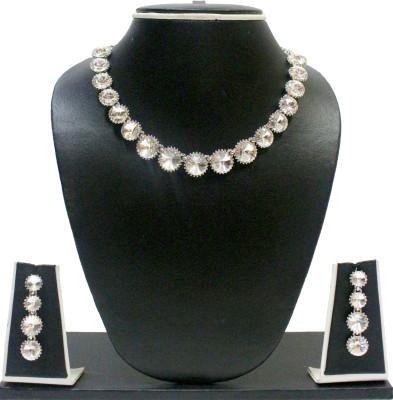 Zaveri Pearls Alloy Jewel Set(Silver) at flipkart
