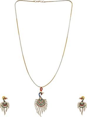 Star India Alloy Jewel Set(Silver, Green)