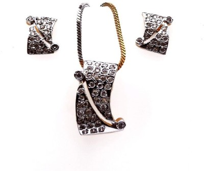 Kundaan Alloy Jewel Set(White) at flipkart