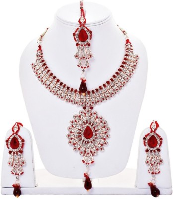 Styylo Fashion Alloy Jewel Set(Red) at flipkart