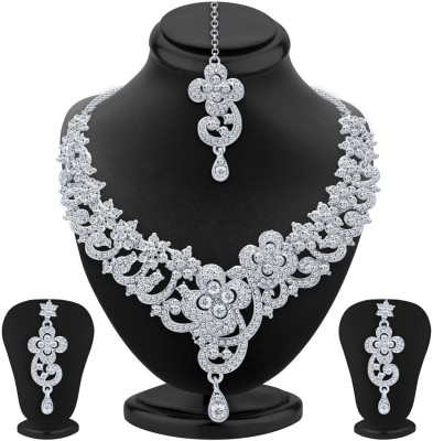 Sukkhi Alloy Jewel Set(White) at flipkart