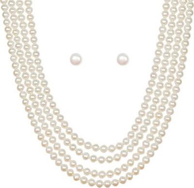 Classique Designer Jewellery Mother of Pearl Jewel Set at flipkart