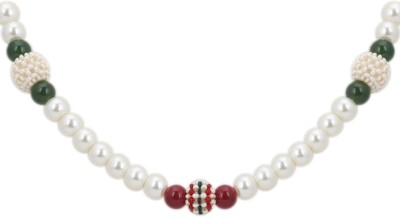 DD Pearls Mother of Pearl Jewel Set(White) at flipkart