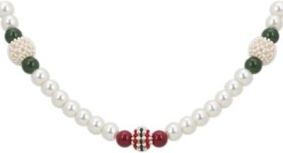 DD Pearls Mother of Pearl Jewel Set(White) at flipkart