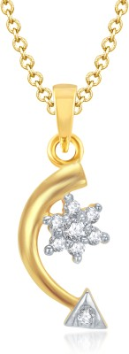 VK Jewels Amazing Gold and Rhodium Plated Gold-plated Alloy Pendant