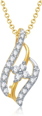 VK Jewels Fashionable Gold and Rhodium Plated Gold-plated Alloy Pendant