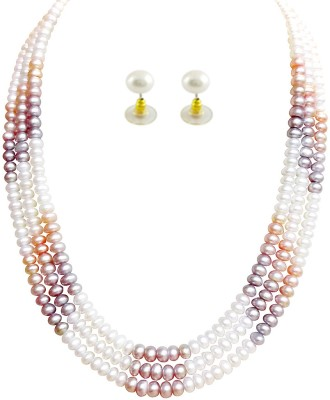 JPearls Mother of Pearl Jewel Set at flipkart