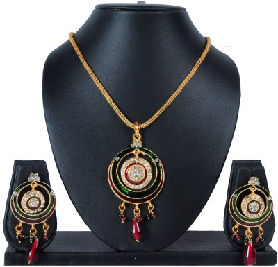 Luxor Brass Jewel Set(Multicolor) at flipkart