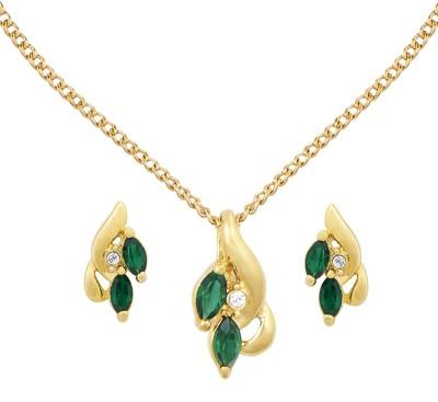 Shining Jewel Brass Jewel Set(Green)