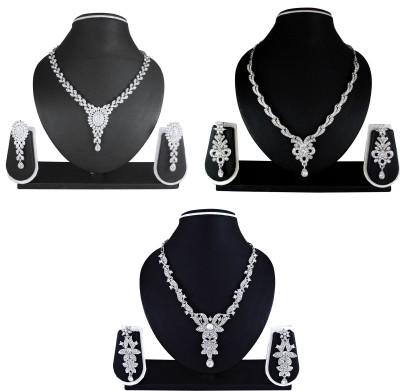 Atasi International Alloy Jewel Set(White) at flipkart