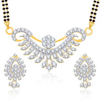 VK Jewels Alloy Jewel Set(Gold) at flipkart