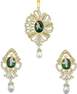Vijisan Sterling Silver Jewel Set(Gold) at flipkart