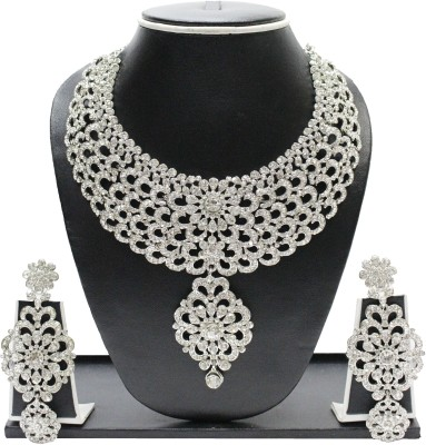 Zaveri Pearls Alloy Jewel Set(White) at flipkart