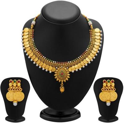 Sukkhi Copper Jewel Set(Gold) at flipkart