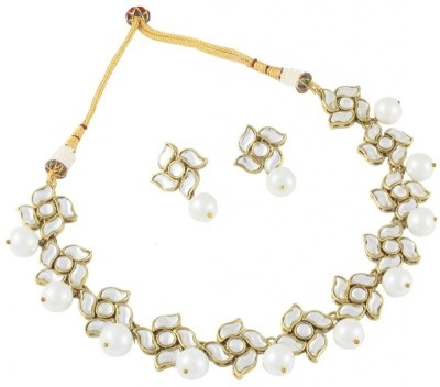 Karatcart Alloy Jewel Set(White, Gold) at flipkart