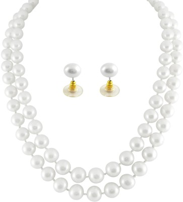 JPearls Mother of Pearl Jewel Set at flipkart