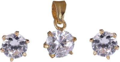 Jewels Guru Brass Jewel Set(White) at flipkart