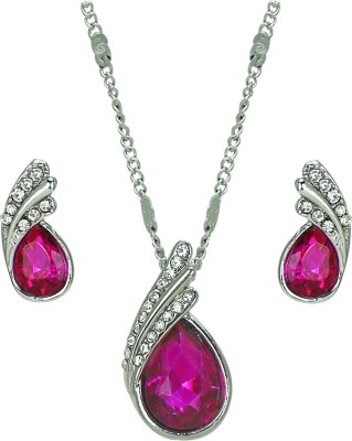 Amour Alloy Jewel Set Pink