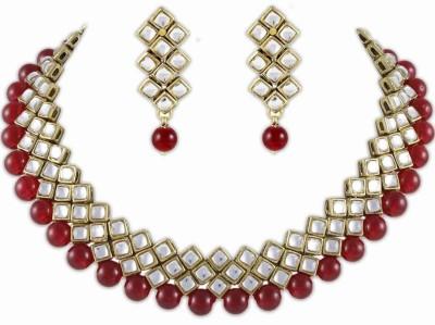 Shining Diva Brass Jewel Set(White)