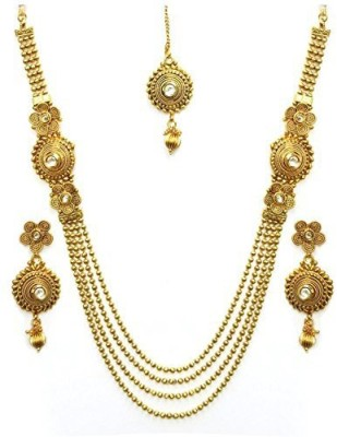 Zeneme Copper Jewel Set(Gold) at flipkart