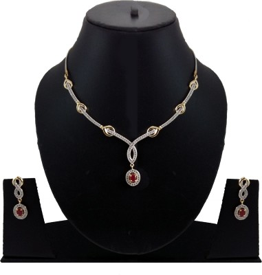 Shubh 4u Alloy Jewel Set(Gold) at flipkart