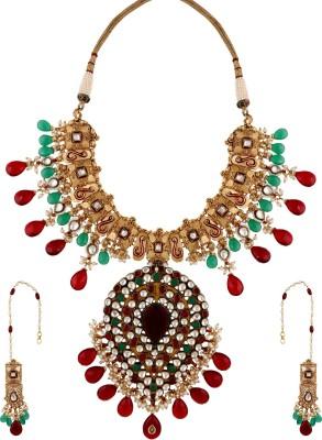 Sri Shringarr Fashion Copper Jewel Set(Multicolor) at flipkart
