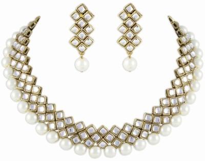 Shining Diva Brass Jewel Set(Red)