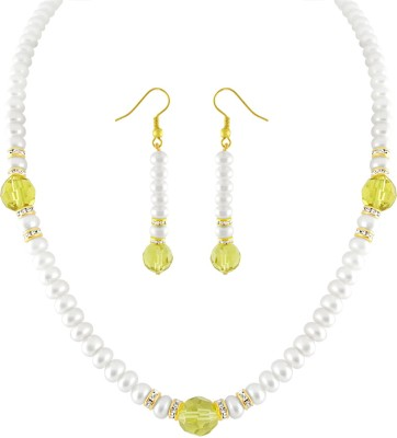 JPearls Mother of Pearl Jewel Set(White) at flipkart