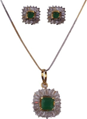 Kundaan Alloy, Copper Jewel Set(Silver) at flipkart