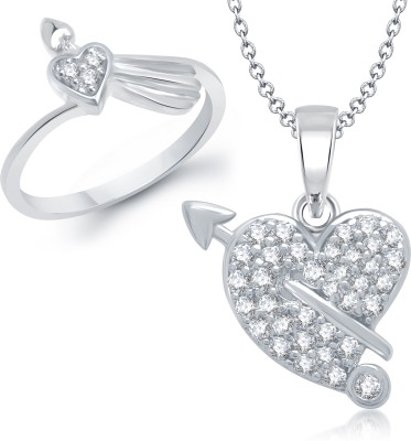 VK Jewels Alloy Jewel Set(Silver) at flipkart