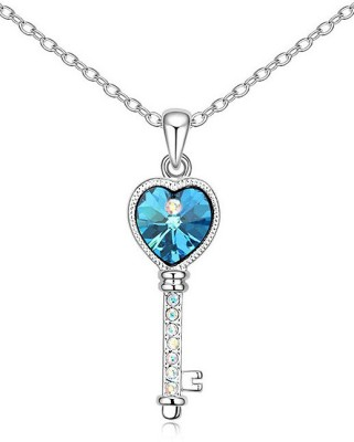 Silver Shoppee Key of Success Rhodium Alloy Pendant at flipkart