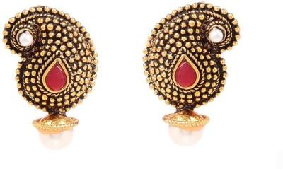 GoldNera Antique Pearl design Alloy Stud Earring GoldNera Earrings