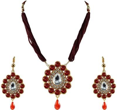 Vidhya Kangan Brass Jewel Set(Red) at flipkart