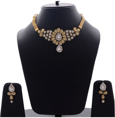 Styylo Fashion Alloy Jewel Set(Grey, White) at flipkart