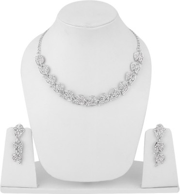 Styylo Fashion Alloy Jewel Set(Silver) at flipkart