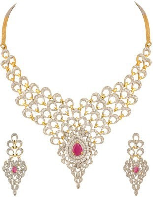 Zeneme Alloy Jewel Set(Red) at flipkart