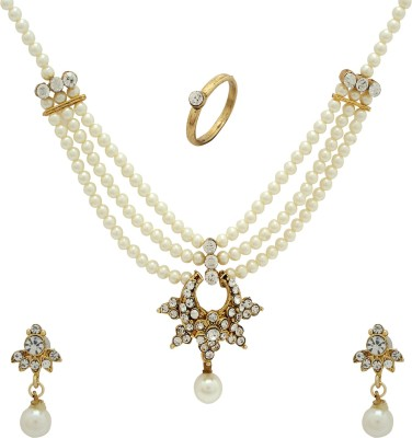Luxor Alloy Jewel Set(White, Gold)  available at flipkart for Rs.399