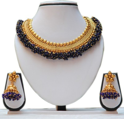 Swarajshop Copper Jewel Set(Blue) at flipkart